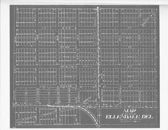 Ellendale as surveyed in 1906