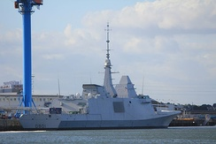 Mohammed VI, a FREMM multipurpose frigate of the Royal Moroccan Navy.