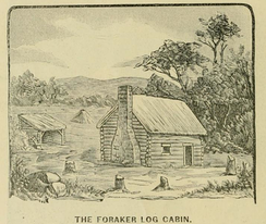 "Depiction of Foraker's ""birthplace"" from an 1883 campaign biography"