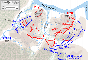 Union counterattack, afternoon February 15, 1862