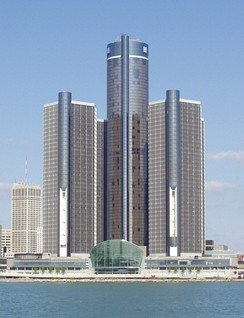 El Renaissance Center, sede de la General Motors, en Detroit.