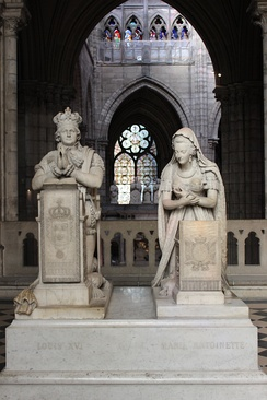 Funerary monument to King Louis XVI and Queen Marie Antoinette in the Basilica of St Denis (sculptures by Edme Gaulle and Pierre Petitot, (1830))