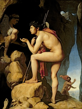 Oedipus explains the riddle of the Sphinx, by Jean Auguste Dominique Ingres, c. 1805
