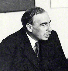 During his stay in England, Kalecki met John Maynard Keynes (pictured), and was able to discuss with him some of the ideas they shared