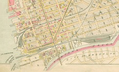 Map of industrial Hunters Point, 1891