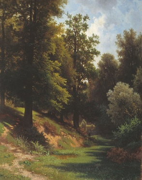 Картина Льва Каменева «Лес»