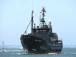 MY Steve Irwin approaching Melbourne in February 2008
