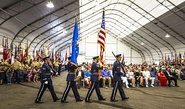 Air Force Color Guard march during Massing of the Colors, 2015