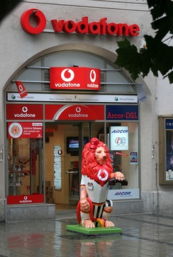 The Vodafone Lion on the Löwenparade in Munich, Germany
