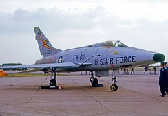 F-100D Super Sabre of 20 TFW in 1964 showing unit markings in colour