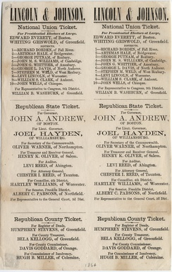 1864 ballot of the National Union Party (United States)