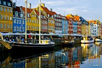 Nyhavn is a 17th-century waterfront lined by brightly coloured townhouses