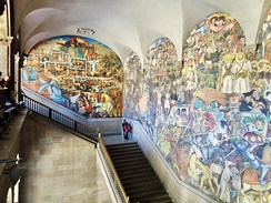 View of the Murals by Diego Rivera in the Palacio Nacional