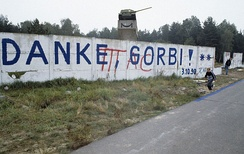 "Berlin Wall, October 1990, Saying ""Thank You, Gorbi"""
