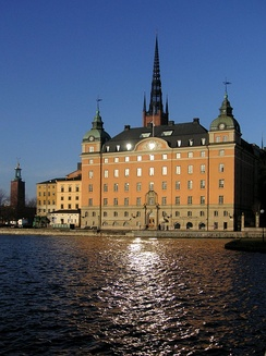 The Old Parliament House on Riddarholmen was the seat of the Riksdag from 1833 to 1905.