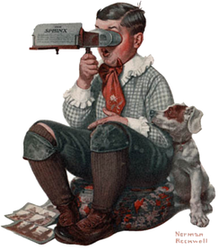 A Norman Rockwell Post cover illustration (January 1922)