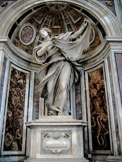 Statue of St Veronica & the Veil at St Peter's Basilica