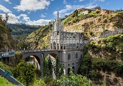 The Las Lajas Sanctuary in the southern Colombian Department of Nariño