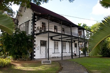 The Seychelles History Museum in Victoria, Seychelles, the former Supreme Court building.