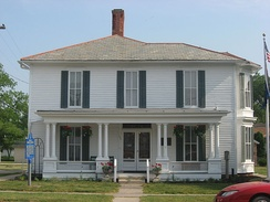 The Thomas R. Marshall House at Columbia City was listed on the National Register of Historic Places in 1983.[8]