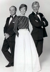 From left to right: Conway, Burnett, and Dick Van Dyke in the final season