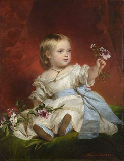 The Princess Royal as a young child. Portrait by Franz Xaver Winterhalter, 1842.