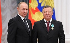 President Putin with Russian businessman Arkady Rotenberg. He is considered a close confidant of Putin.