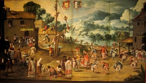 Indian Wedding and Flying Pole, circa 1690