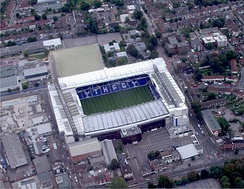 Aerial image of White Hart Lane. Redevelopment of this stadium began in early 1980s and completed in the late 1990s.