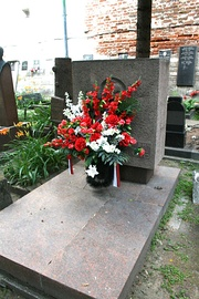 Grave of Maxim Litvinov at Novodevichy Cemetery in Moscow