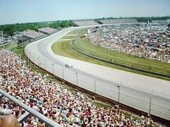 "The Turn 4 infield (""Snake Pit II"") seen on pole day in 1988."