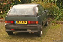 Rear view of 1988–1992 model hatchback (Europe)