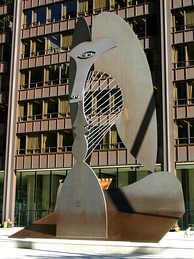 The Chicago Picasso, a 50-foot high public Cubist sculpture. Donated by Picasso to the people of Chicago