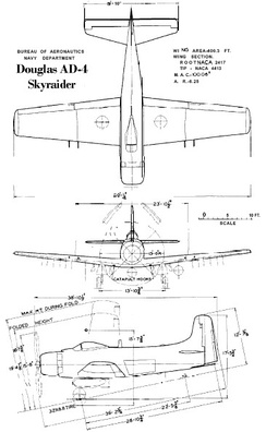 Line drawings for the AD-4 Skyraider.