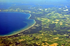 Aerial view of Wasaga Beach from the southwest, 2013