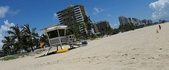 Fort Lauderdale, Florida is a typical warm weather destination for students on spring break.