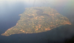 Aerial view of Bornholm, Denmark