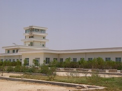 The Bender Qassim International Airport in Bosaso, Somalia (2007).