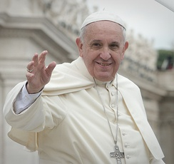 Francis is the 266th and current pope of the Catholic Church, a title he holds ex officio as Bishop of Rome, and sovereign of Vatican City. He was elected in the papal conclave, 2013.