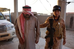 An ISIL fighter captured by Iraqi Security Forces near Tikrit, 2015