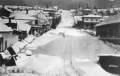 Cherry Street after heavy snowfall on January 10, 1880