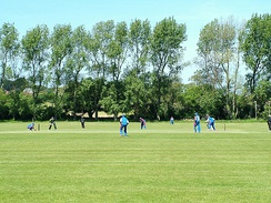 The College Field, where students play cricket during the summer term