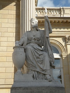Statue of The Law by Gayrard (1860)