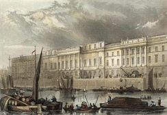 , The Thames front of the London Custom House