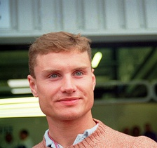 Häkkinen's teammate, David Coulthard (pictured in 1995), finished the season ranked third.