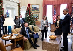Comey at the Oval Office following the San Bernardino shooting, December 3, 2015