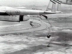 French-marked USAF C-119 flown by CIA pilots during the Battle of Dien Bien Phu in 1954