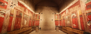 Fresco paintings inside the House of Augustus, his residence during his reign as emperor.