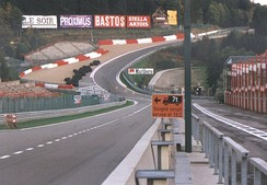 Eau Rouge and Raidillon in 1997, with a maximum gradient in excess of 18%