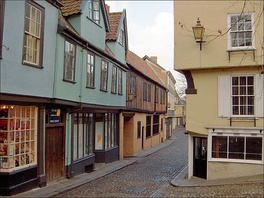 Elm Hill is an intact medieval street.